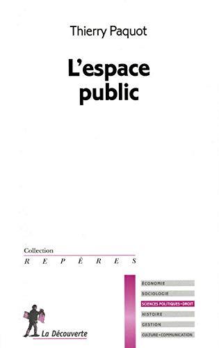 9782707154897: L'espace public