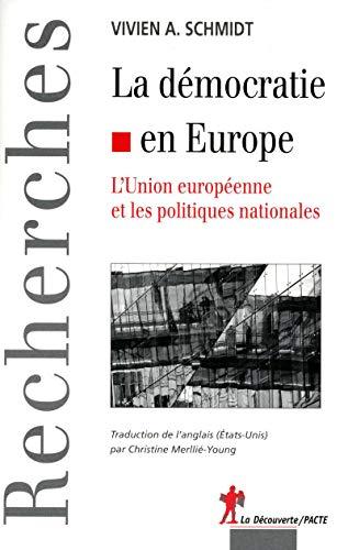 La démocratie en Europe: Schmidt Vivien