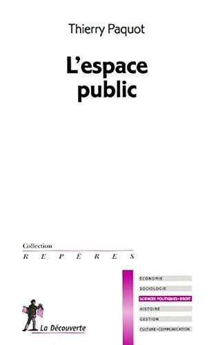 9782707166005: l'espace public