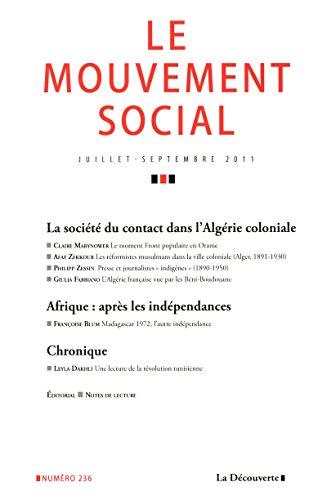 La société du contact dans l'Algérie coloniale: Revue Le Mouvement