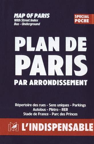 9782707202437: Atlas routiers : Plan de Paris par arrondissement - Spécial poche