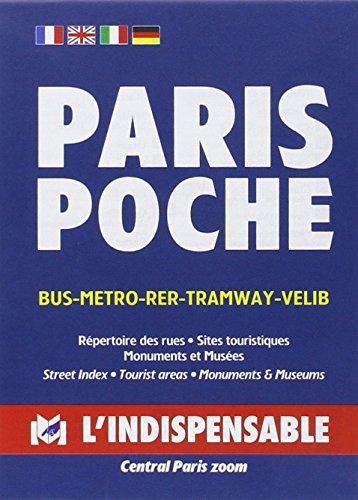 9782707202451: Plan de ville : Paris Poche, avec index des rues