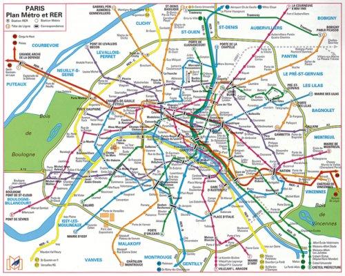 9782707202703: Plan de ville : Métro Rer Bus (plastifié)
