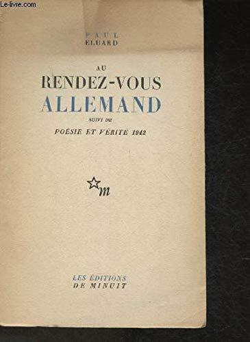 9782707301024: Au Rendez-Vous Allemand (French Edition)