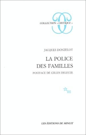 9782707301789: La Police des familles (Collection Critique) (French Edition)