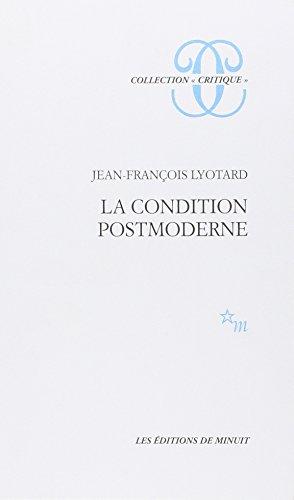 9782707302762: La Condition Postmoderne: Rapport Sur Le Savoir (French Edition)