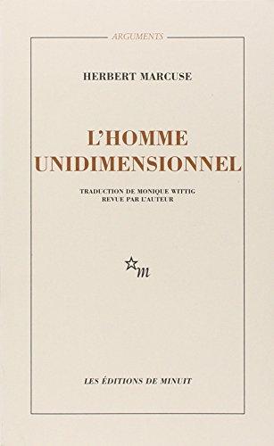 9782707303738: L'HOMME UNIDIMENSIONNEL