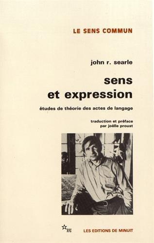 9782707306210: Sens et expression : Etudes de théorie des actes de langage