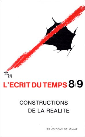 L'Ecrit du temps 8/9 : Constructions de: Collectif