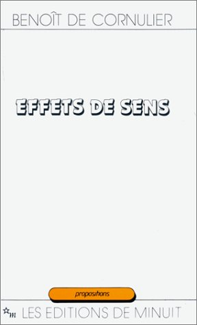 9782707310507: Effets de sens (Propositions) (French Edition)