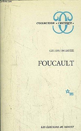"""Foucault (Collection """"Critique"""") (French Edition): Deleuze, Gilles"""