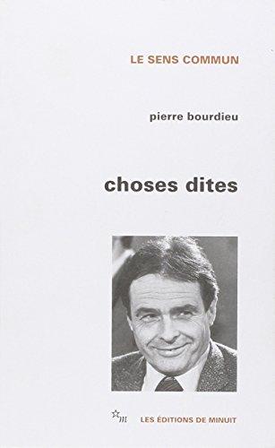 9782707311221: Choses dites (Le Sens commun) (French Edition)