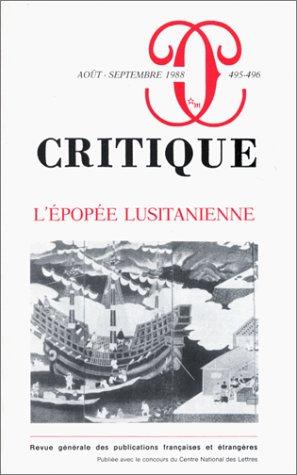 Revue Critique, n° 495 : L'Epopà e: Collectif