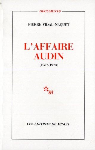 9782707313171: L'Affaire Audin, 1957-1978