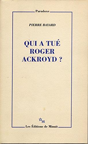 9782707316530: Qui a tué Roger Ackroyd ?