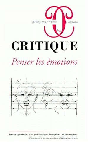 9782707316783: Revue Critique 625-626. Penser les émotions