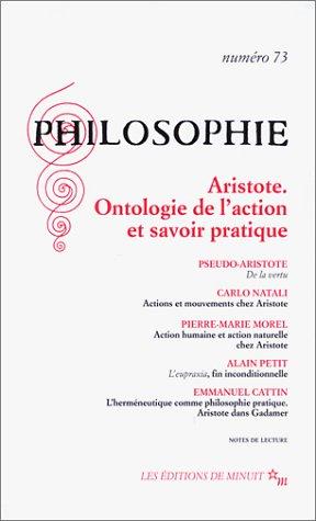 Philosophie, numéro 73 : Aristote - Ontologie: Collectif