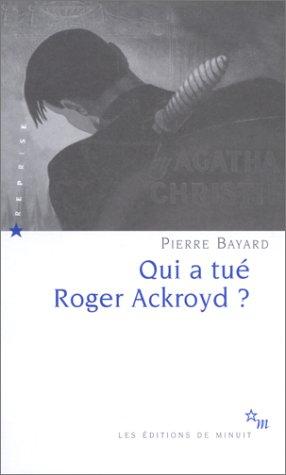 9782707318091: Qui a tué Roger Ackroyd ?