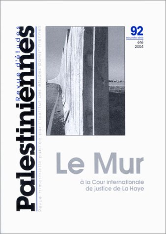 9782707318817: Revue d'�tudes palestiniennes, num�ro 92