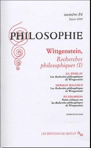 Philosophie, N° 84, Hiver 2004 : Wittgenstein,: Claude Romano; Elisabeth