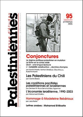 9782707319227: Revue d'études palestiniennes, N° 95 Printemps 2005 :
