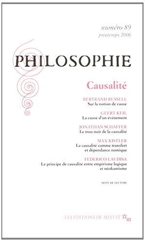9782707319531: Philosophie, N� 89, Mars 2006 : Causalit�