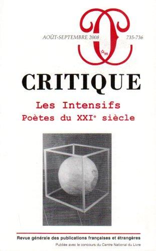 9782707320544: Critique 735-736 - Aout Septembre 2008