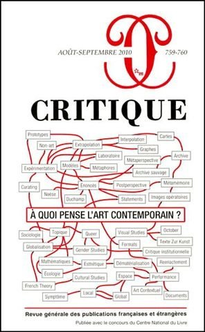 Critique, N° 759-760, Août-sep (French Edition) (9782707321305) by [???]