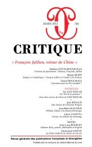 REVUE CRITIQUE NO.766: COLLECTIF