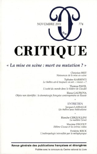REVUE CRITIQUE NO.774: COLLECTIF