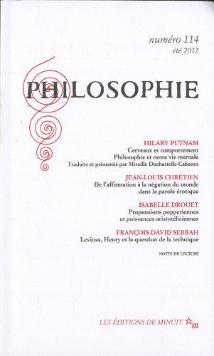 9782707322487: Philosophie, N° 114, été 2012 :