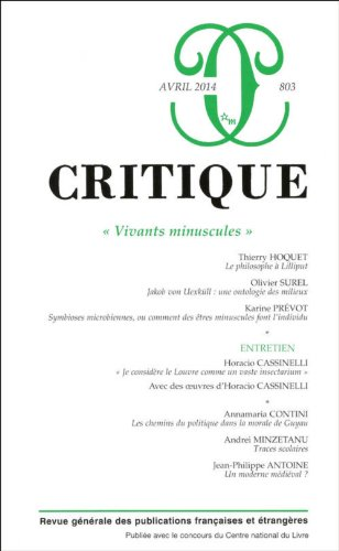 REVUE CRITIQUE NO.803: COLLECTIF