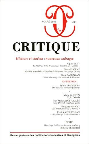 REVUE CRITIQUE 814 HISTOIRE ET CINEMA NOUVEAU: COLLECTIF