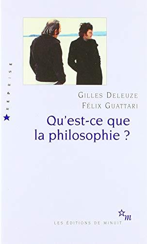 Qu'est-ce que la philosophie ?: DELEUZE GILLES/GUATTARI FELIX