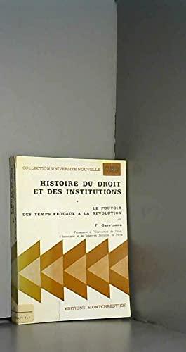 9782707601902: Histoire du droit et des institutions (Collection Universite nouvelle. Precis Domat) (French Edition)
