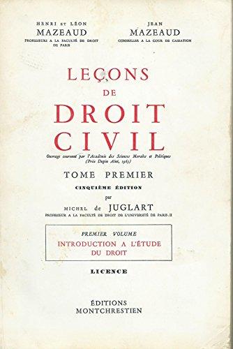 9782707602312: Leçons de droit civil