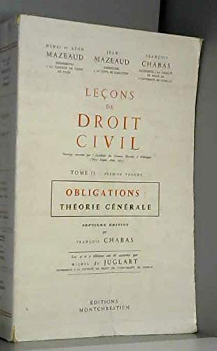 9782707603128: Lecons Droit Civil T. II - I