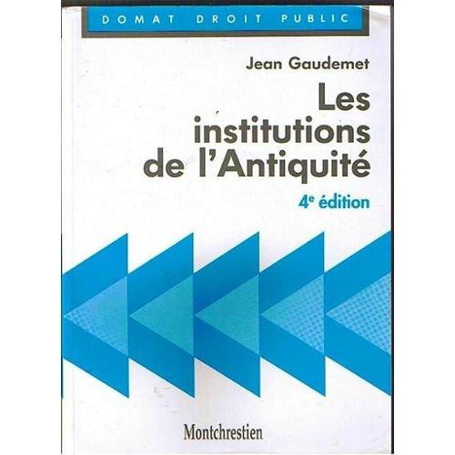 9782707606143: Les institutions de l'Antiquit�