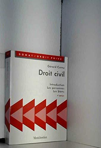 9782707606181: Droit civil : Introduction, les personnes, les biens