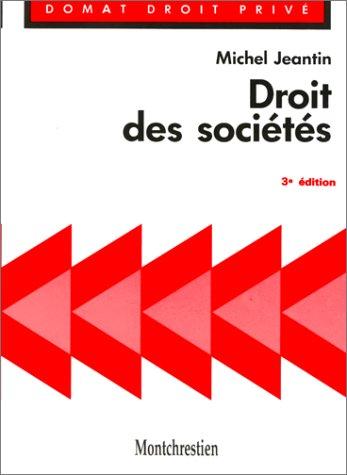 DROIT DES SOCIETES: JEANTIN M.