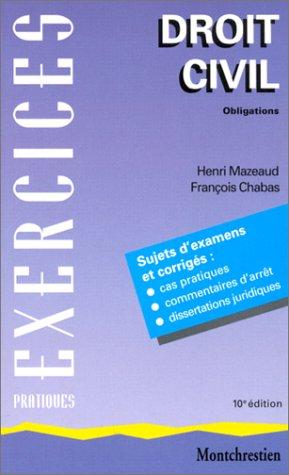 9782707612144: Droit civil, tome 2 ; Obligations, 10e édition