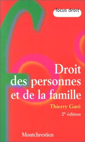 9782707612168: Droits des personnes et de la famille