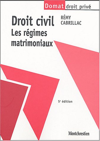 9782707613837: Droit civil : Les régimes matrimoniaux