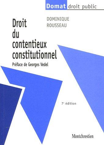 9782707614407: Droit du contentieux constitutionnel