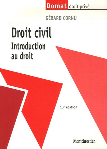 9782707615510: Droit civil : Introduction au droit