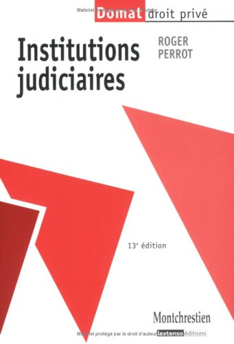 9782707615930: Institutions judiciaires