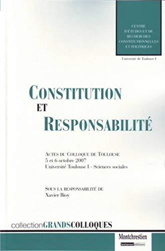 Constitution et responsabilità (French Edition): Montchrestien