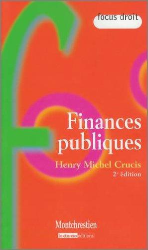 Finances publiques: Henry-Michel Crucis