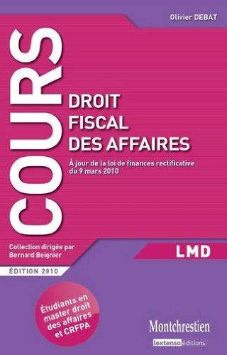 9782707616920: Droit fiscal des affaires (French Edition)