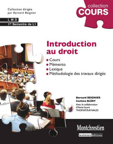 9782707616975: Introduction au droit (French Edition)